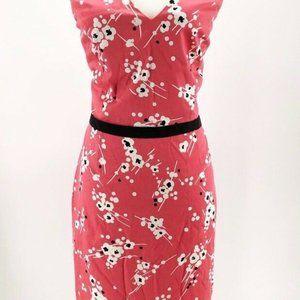 London Times Womens Sheath Dress Pink Black L/14
